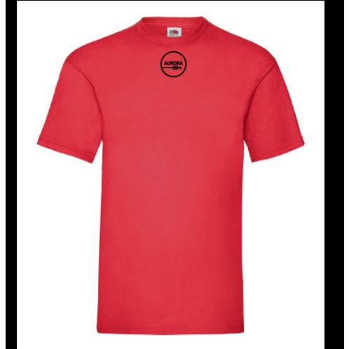 Röd T-shirt herr/unisex med tryck
