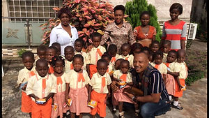 Fruitful Mekwunye supports Kardinia Hope School, Donates Food to School Kitchen.