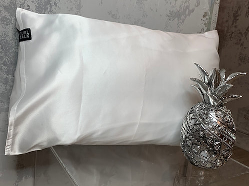 Curl Talk Vegan Satin Pillowcase - white