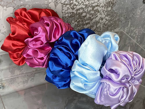 Vegan Satin Scrunchies