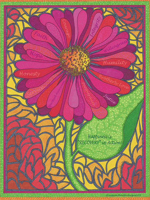 Card~Pink Sunflower~12 Principles