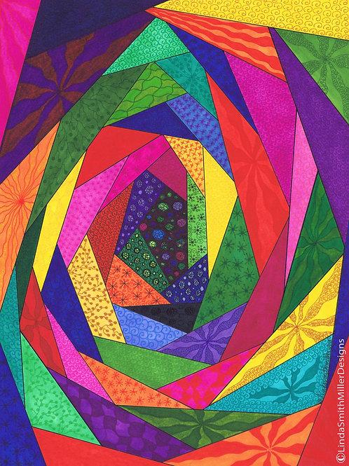 Card ~ Kaleidoscope Quilt