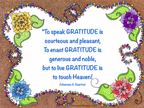 Gratitude is an Inside Job!