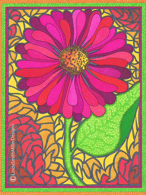 Print ~ Pink Summer Sunflower
