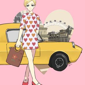 車と女性3