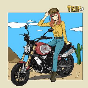 バイクと女性2