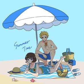 夏の男女2