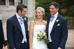 wedding suit hire navy tails