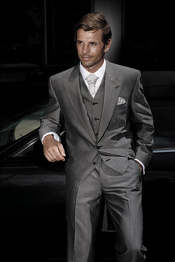 Wedding Suit Hire Charcoal Tails