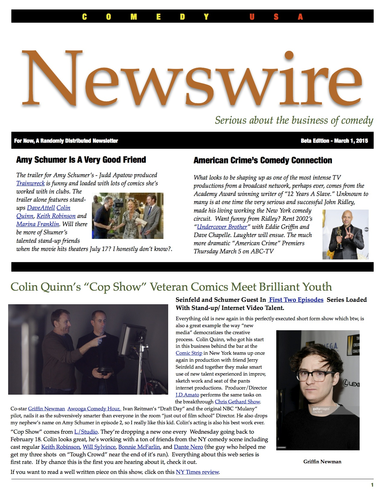 Newswire Front 3:1:15