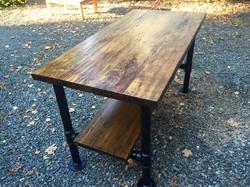 Reclaimed floorboards table