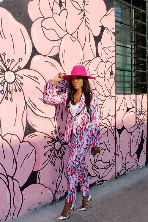 Pink Suit Blazer & Pants