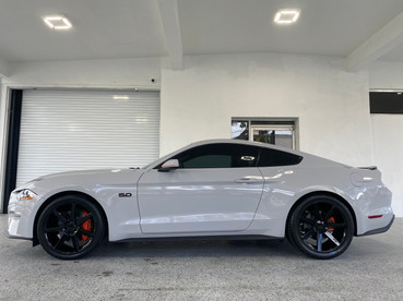 Storm Grey Wrapped Mustang