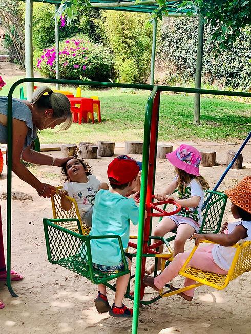 Abby on the playground