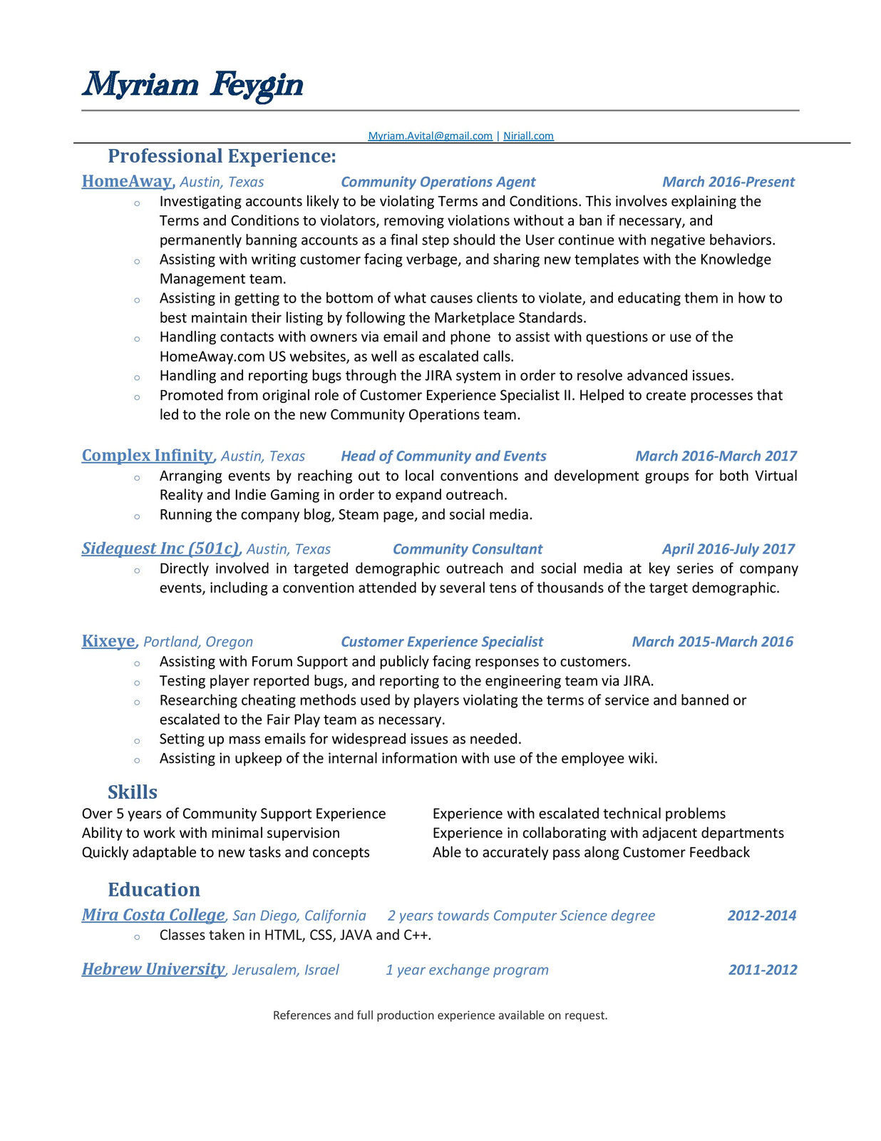 Best Resume Classes San Diego Pictures Inspiration - Example Resume ...