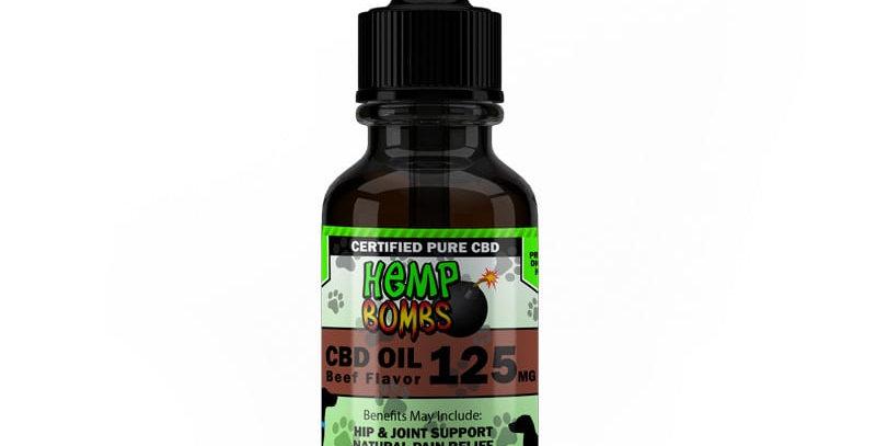 CBD- Pet oil 125mg- Beef Flavor