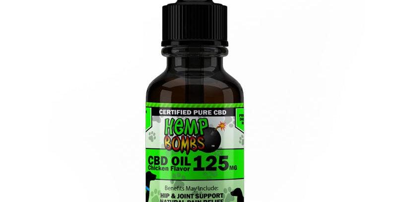CBD- Pet oil 125mg- Chicken Flavor