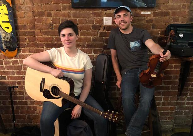 Ellie and Robert at DTUT cafe
