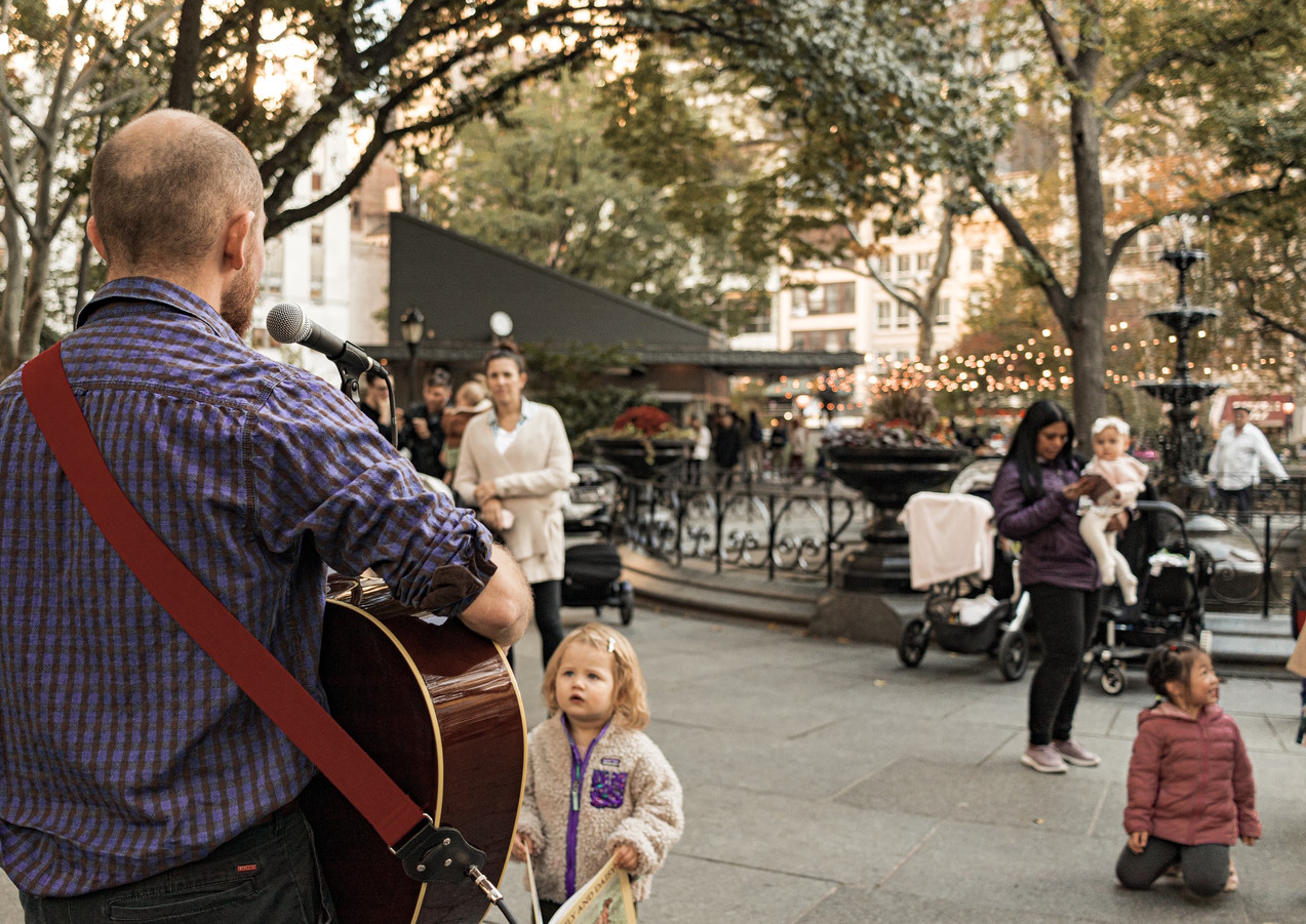 Busking in Madison Square Park