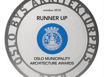 RUNNER UP IN OSLO MUNICIPALITY ARCHITECTURE AWARDS