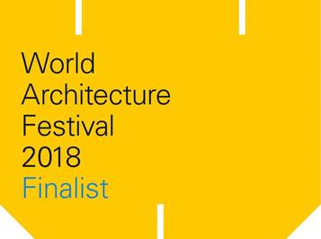 FINALIST FOR WORLD ARCHITECTURE FESTIVAL 2018