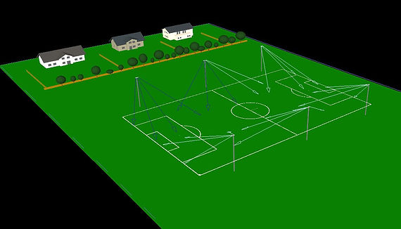 Football sports lighting aimings