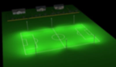Sports pitch lighting football pitch render