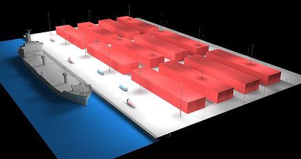 Port Lighting render in Dialux