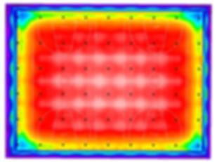 Basketball indoor sports lighing false colour render Dialux