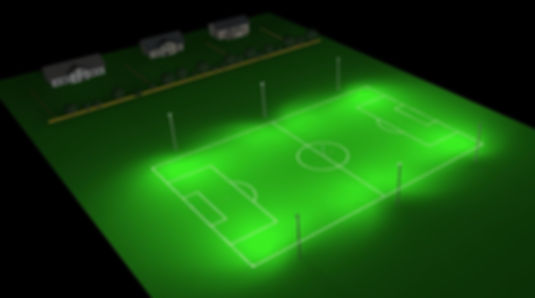 Football pitch Floodlghting Light containment