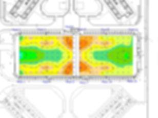 Twin sports pitches Field illuminance Ca