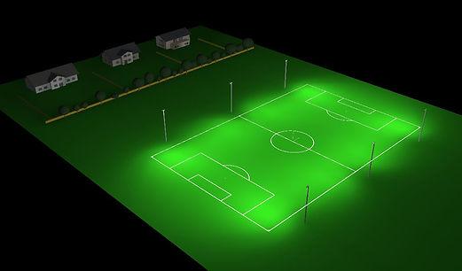 Render of sports lighting