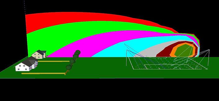 Light overspill calculations