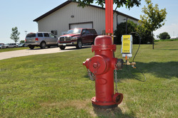 Transmitter connected to a hydrant