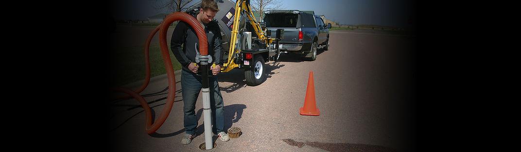 Hydro excavation vacuum with valve exerciser