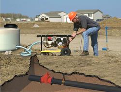 Test pump in the field
