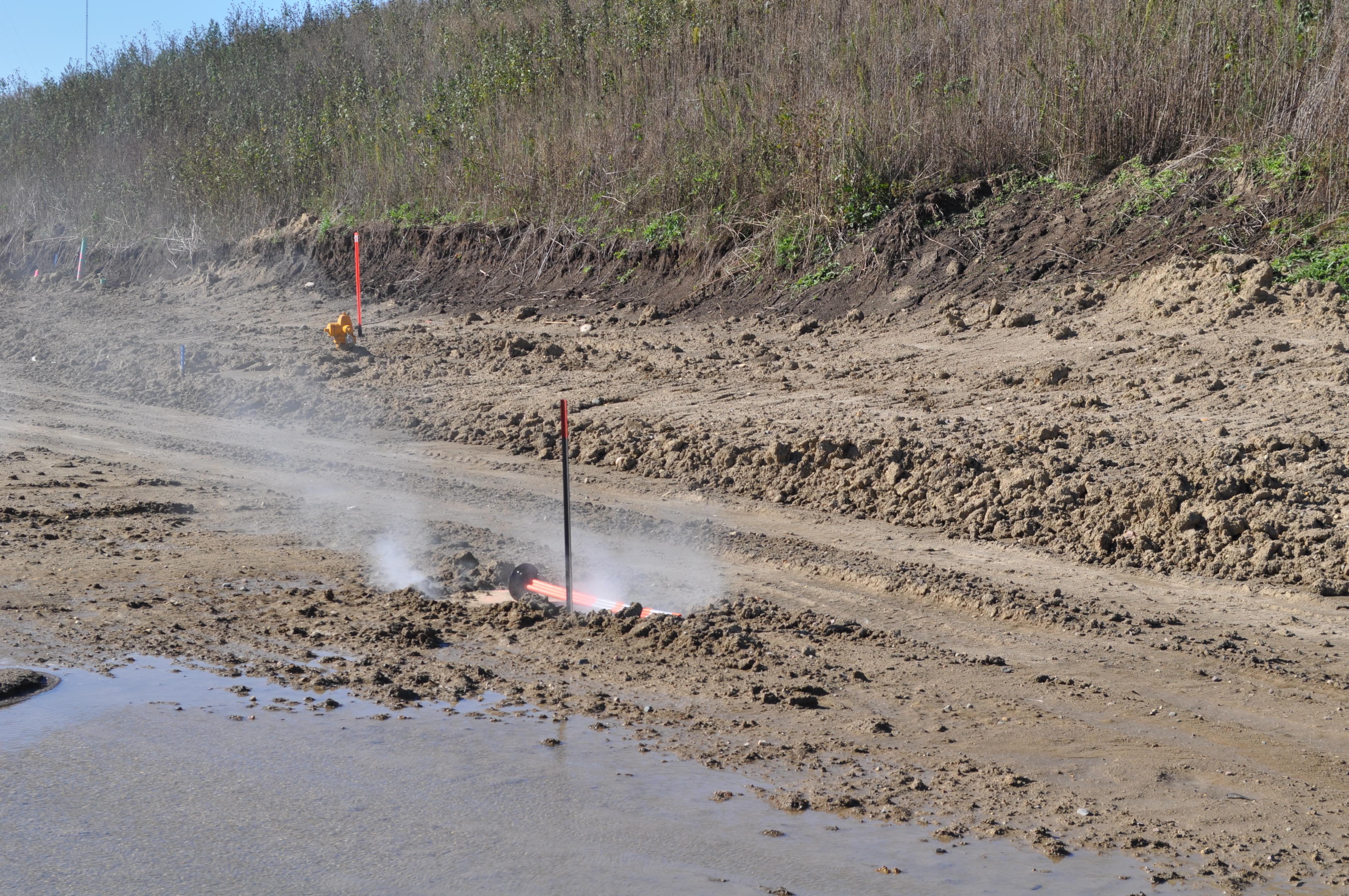 Sewer line leak