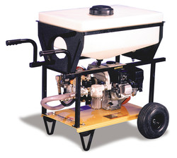 Twin diaphragm pump with optional 20 gallon float tank