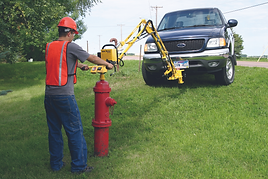 Hurco's vertical valve exerciser with up to 400 ft lbs of torque.