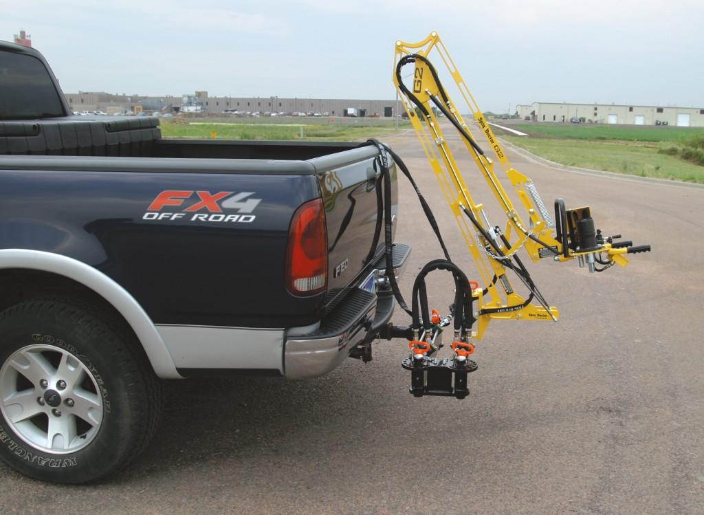 Hitch mounted valve exerciser
