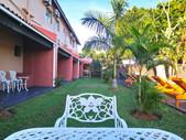 St Lucia lodge outside pool