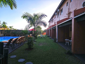 St Lucia lodge pool entrance