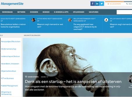 Nieuw artikel: denk als een startup