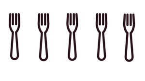 Forks representing a 5 star rating for food and restaurants in Fort Collins Colorado