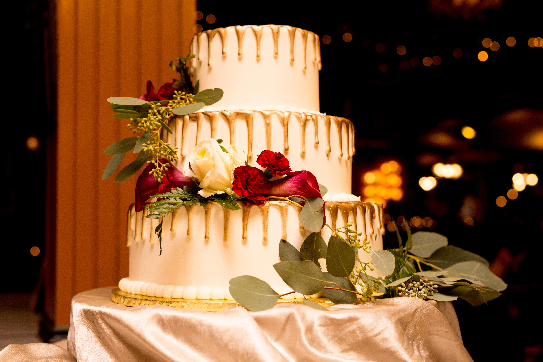 Three Tiered Drip Cake