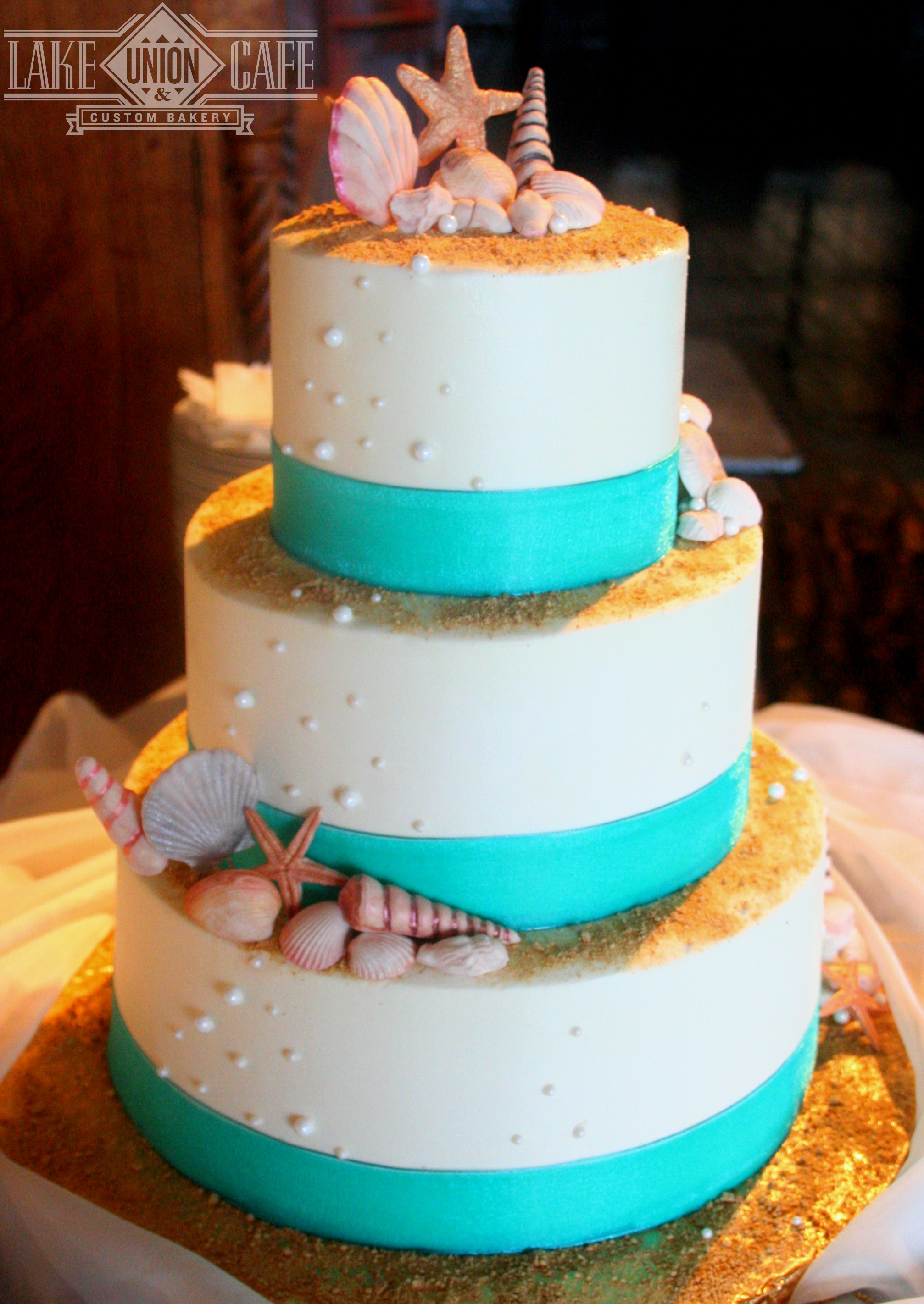 Three Tiered Beach Cake