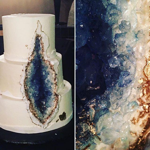 Blue Geode Cake