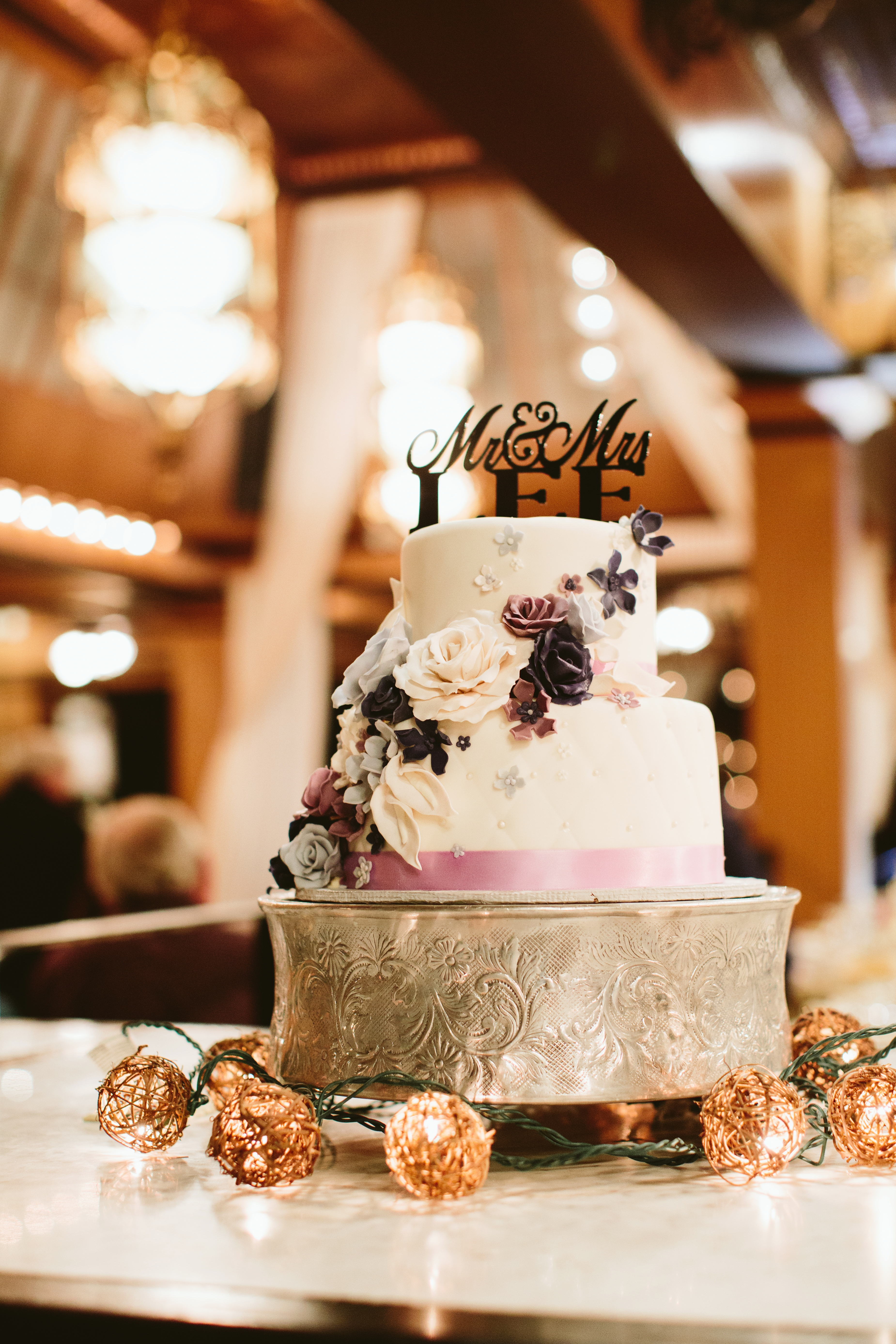 Two Tier Floral Decor