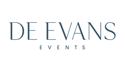 De Evans Events Brand_blue_transparent_e