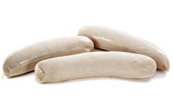 Three White Sauasages